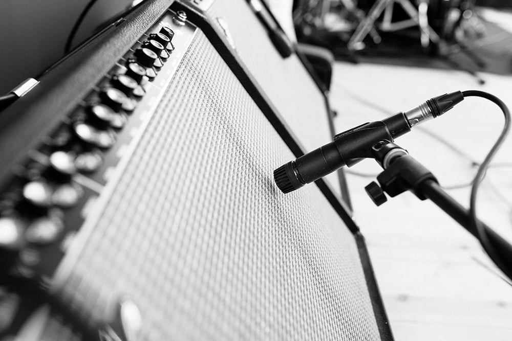 Amps with Mic stands